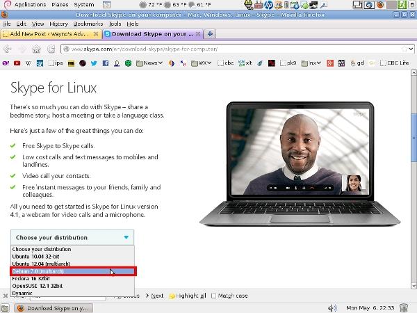 Debian Skype